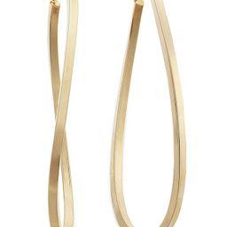 Macy's Figure 8 Hoop Earrings in 14k Gold Vermeil, 60mm & Reviews - Earrings - Jewelry & Watches ... | Macys (US)