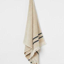 Linen-blend Bath Towel   H&M (US)