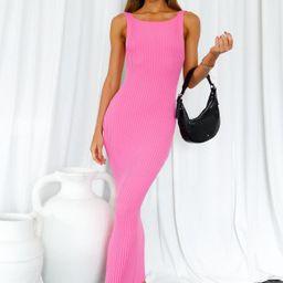 Maddison Midi Dress Pink | Hello Molly