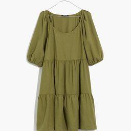 (Re)sponsible Puff-Sleeve Mini Dress   Madewell