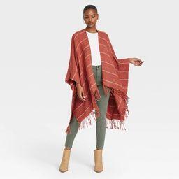 Women's Stripe Wrap Jacket - Universal Thread™ Rust | Target