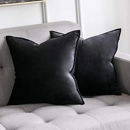 MIULEE Pack of 2 Decorative Velvet Throw Pillow Cover Soft Pillowcase Solid Square Cushion Case f... | Amazon (US)