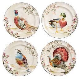 Botanical Harvest Turkey Stoneware Salad Plates - Set of 4   Pottery Barn (US)
