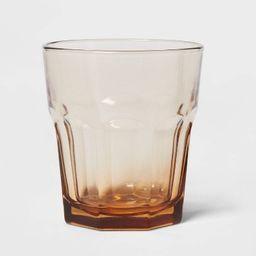 12oz Glass Tremont Short Faceted Tumbler Brown - Threshold™ | Target