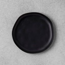 Stoneware Salad Plate - Black - Hearth & Hand™ with Magnolia | Target