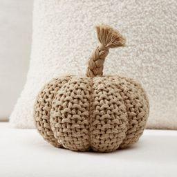 Seedstitch Pumpkin Shaped Pillow   Pottery Barn (US)
