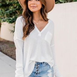Always Loving You Most White Blouse   The Pink Lily Boutique
