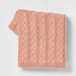 Solid Chunky Cable Knit Throw Blanket - Threshold™ | Target