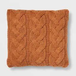Chunky Cable Knit Throw Pillow - Threshold™ | Target