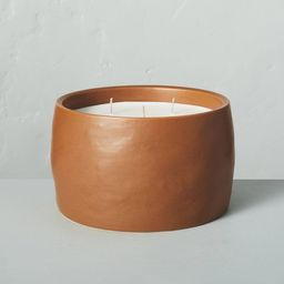 35oz Harvest Spice 5-Wick Speckled Ceramic Fall Candle - Hearth & Hand™ with Magnolia | Target