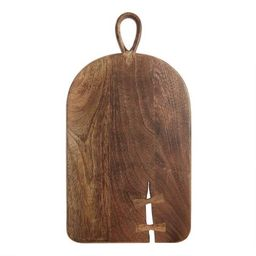 Dark Mango Wood Butterfly Key Cutting Board | World Market