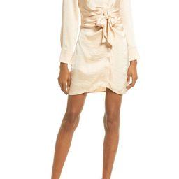 Tie Waist Long Sleeve Satin Shirt Dress | Nordstrom | Nordstrom