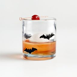 Bats 14-Oz. Double Old-Fashioned Glass + Reviews | Crate and Barrel | Crate & Barrel
