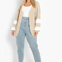 Plus Knitted Stripe Cardigan | Boohoo.com (US & CA)
