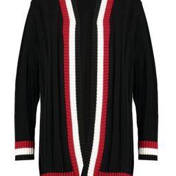 Plus Contrast Stripe Chunky Cardigan | Boohoo.com (US & CA)