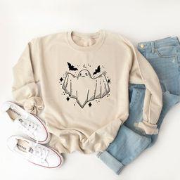 Ghost Crewneck Sweatshirt Ghost Hoodie Halloween Sweatshirt   Etsy   Etsy (US)