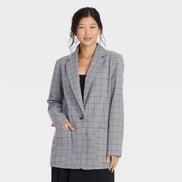 Women's Plaid Blazer - A New Day™   Target