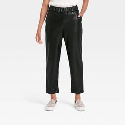 Women's High-Rise Faux Leather Tapered Ankle Pull-On Pants - A New Day™   Target