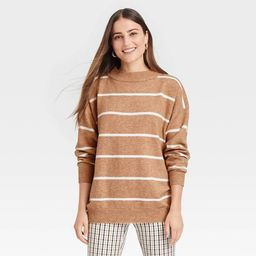 Women's Slouchy Mock Turtleneck Pullover Sweater - A New Day™   Target