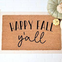 Happy Fall Yall Doormat, Fall Welcome Mat, Fall Decor, Funny Doormat, Funny Welcome Mat, Hallowee... | Etsy (US)