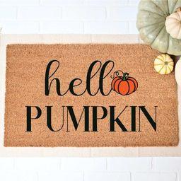 Hey Pumpkin Doormat, Hello Pumpkin Rugs, Fall Welcome Mat, Fall Decor, Funny Doormat, Halloween D... | Etsy (US)