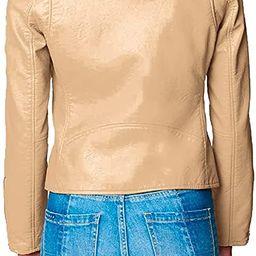 [BLANKNYC] womens Luxury Clothing Semi Fitted Vegan Leather Motorcycle Jacket | Amazon (US)