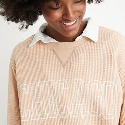 Aerie The Sweat Waffle Crew Neck Sweatshirt | American Eagle Outfitters (US & CA)
