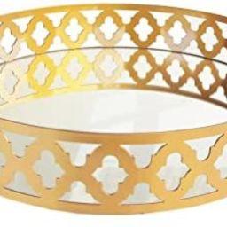 American Atelier Decorative Round Mirror Tray, 16 x 16 x 3-Inch, Gold   Amazon (US)
