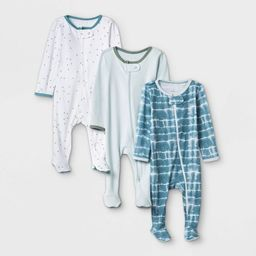 Baby Boys' 3pk Tie-Dye Sleep N' Play - Cloud Island™ Blue/Mint/White | Target
