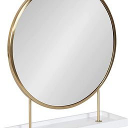 Kate and Laurel Maxfield Round Tabletop Mirror, 18x22, White/Gold   Amazon (US)