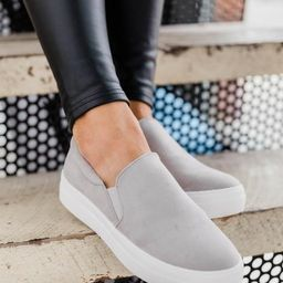 The Abigail Grey Sneakers   The Pink Lily Boutique