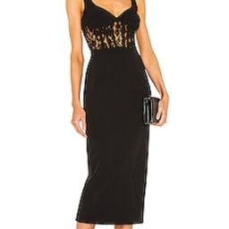 Bardot Corset Lace Panel Dress in Black from Revolve.com | Revolve Clothing (Global)