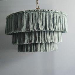 Boho light. Fringe Chandelier Tassel Lamp Shade 60 cm width | Etsy | Etsy (UK)