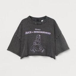 Printed Crop T-shirt   H&M (US)