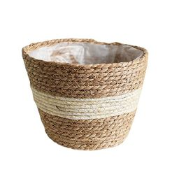 Beska Woven Plant Basket Seagrass Storage Basket For Flower Pots Cover Plant Pots Containers Orga...   Walmart (US)
