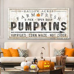 Pumpkin Patch Sign Rustic Fall Decor Name Established Date Modern Farmhouse Wall Decor Autumn Far...   Etsy (US)