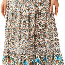 American Trends Womens Boho Skirt for Women Floral A Line Midi Skirt Ruffle High Waist Swing Maxi...   Amazon (US)