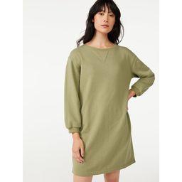 Free Assembly Women's Sweatshirt Dress | Walmart (US)
