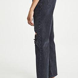 Lana Mid Rise Vintage Straight Jeans | Shopbop