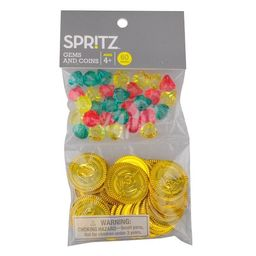 60ct Pirate Cove Bag of Diamond Gems and Coins Party Favors - Spritz™   Target