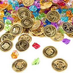 Pirate Plastic Gold Colored Coins Buried Treasure and Pirate Gems Jewelry Playset Activity Game P...   Amazon (US)