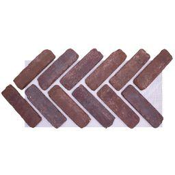 Old Mill Brick 28 in. x 12.5 in. x 1/2 in. (8.7 sq. ft.) Brickwebb Herringbone Boston Mill Thin B... | The Home Depot