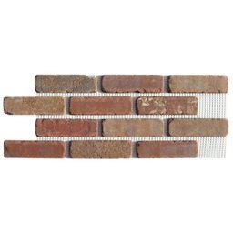 Old Mill Brick Brickwebb Columbia Street Thin Brick Sheets - Flats (Box of 5 Sheets) - 28 in. x 1... | The Home Depot