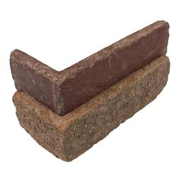 Old Mill Brick Columbia Street Thin Brick Singles - Corners (Box of 25) - 7.625 in. x 2.25 in. (5... | The Home Depot