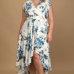 French Countryside White Floral Print High-Low Dress | Lulus (US)