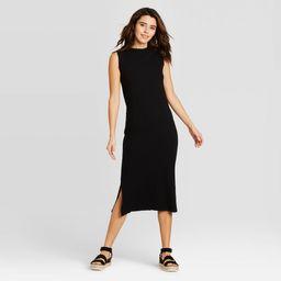 Women's Sleeveless Knit Dress - Universal Thread Black L | Target