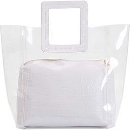 Poxas Womens Transparent Shoulder Bags Clear Tote PVC Handbag Jelly Purse Waterproof Bag   Amazon (US)