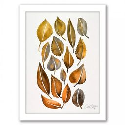 Rusy Fall Leaves by Cat Coquillette Framed Print Wall Art - Americanflat | Target