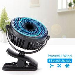USB Powered Clip on Fan Portable Fan 360° Adjustable Small Desk Fan USB Powered Clip Fan for Off... | Walmart (US)