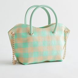 Woven Check Leather Handle Bag | & Other Stories
